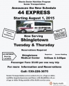 New Schedule for 44 Express to Redding